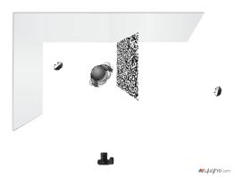 Setup: Spitzenstoff / Musterprojektion