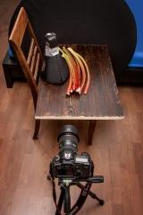 Rhabarber-Setup, Lichtpinsel ist hier ein YN-568 in einer Honl-Traveller8