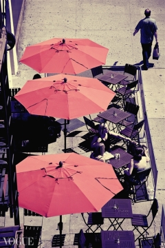 NYC, Red Umbrellas