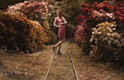 Folge den Bahngleisen