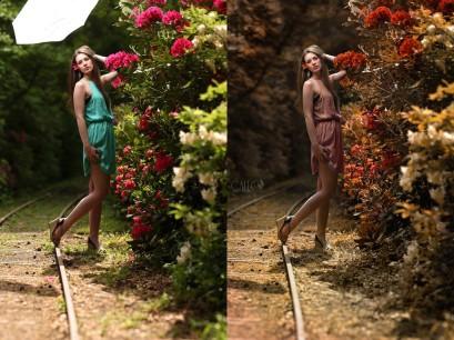 Vor und nach der Farbgebung in Photoshop