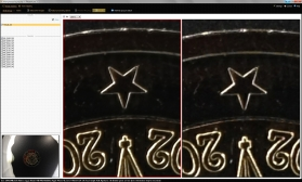 Das Ergebnis von PhotoAcute (links)