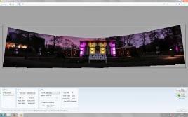 .... und dann ein Panorama für den Hintergrund (hier mit viel Sicherheit links und rechts)