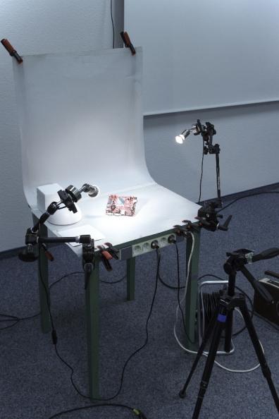 Aufnahmetisch mit Manfrotto Magic Arms