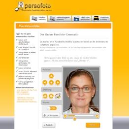 Und hier das Bild in der Passbildschablone von persofoto