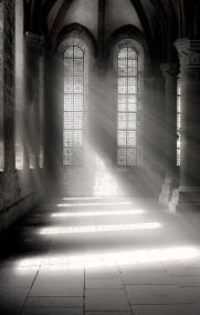 Photoshop-Strahlenbüschel im Kloster Maulbronn
