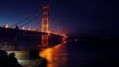 SF / Golden Gate Bridge am Abend