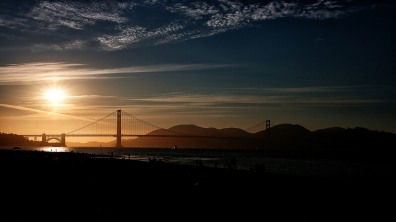 SF: Golden Gate Bridge kurz vorm Sonnenuntergang