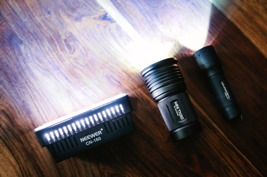 Unsere drei LED-Lampen