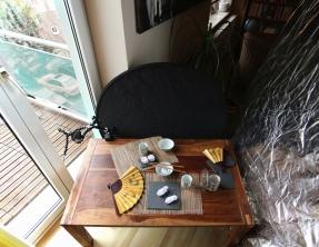 So kann ein Setup aussehen: Balkontür + Reflektor gegenüber