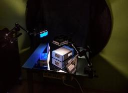Lichtaufbau mit Kunstlicht (2x Neewer LED)