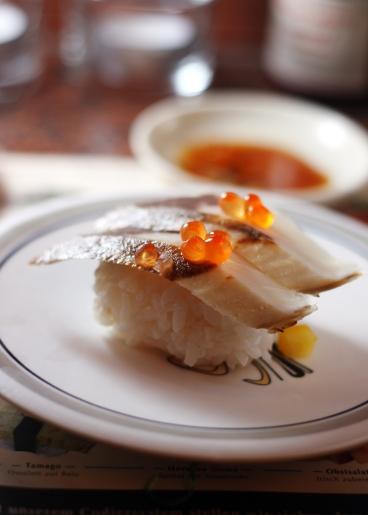Aal-Sushi, gleiches Blitzlicht