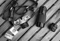 Set, hier 50 mm (auf der Kamera), 35 mm, 70-200 mm